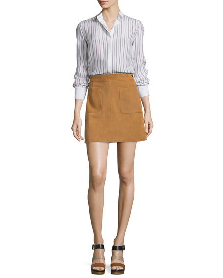 Le High A-Line Skirt, Tobacco