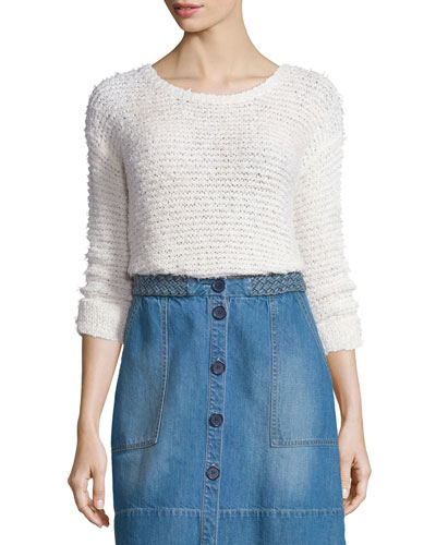 Anias Textured Mesh Sweater