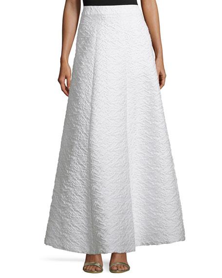 Alice + Olivia Carina Jacquard Ball Skirt, White