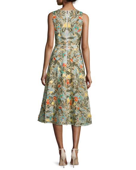 Jenn Sleeveless Floral Embroidered Dress