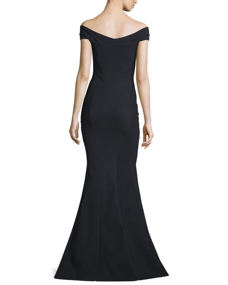 Genny Off-the-Shoulder Sweetheart Mermaid Gown