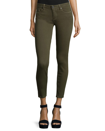 Verdugo Skinny Ankle Jeans, Deep Olive