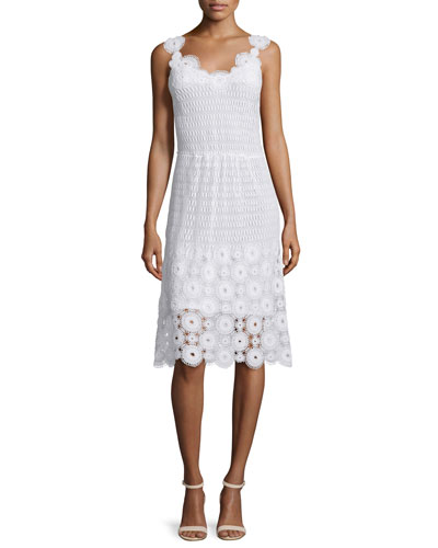 Goranna Sleeveless Lace Dress, White