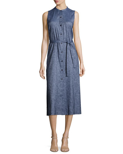 Centha Tierra Wash Midi Dress, Deep Denim