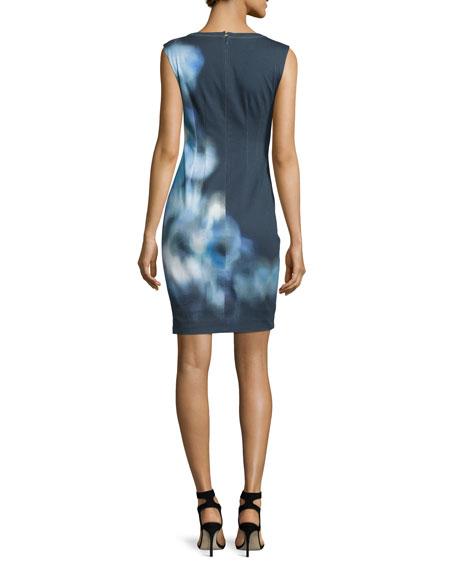 Kelby Sleeveless Sheath Dress, Stargazer