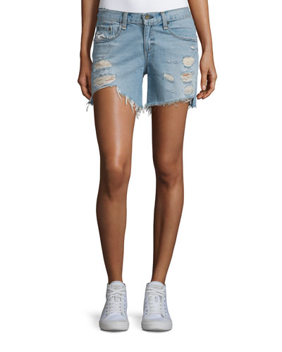 Distressed Boyfriend Denim Shorts, Dixon