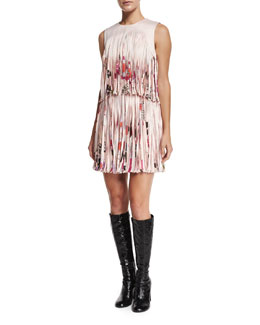 Eleanor Printed Fringe Dress, Botanica