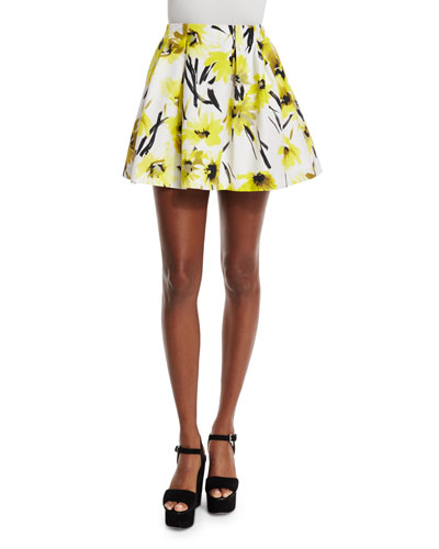 Connor Floral Lampshade Skirt, Multicolor