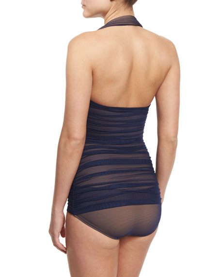 Bill Mio Sheer-Mesh One-Piece Swimsuit
