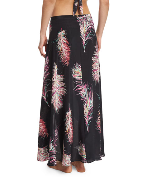 June Cover-Up Silk Maxi Skirt, Krishna