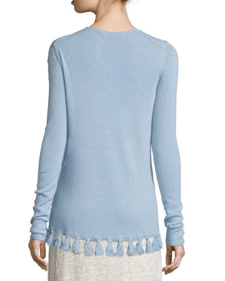 Calypso St Barth Shalona Fringe-Trim Cashmere Sweater 50dadb48665e5