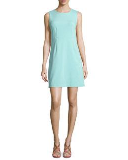 Sleeveless Carrie A-Line Dress, Aquamarine