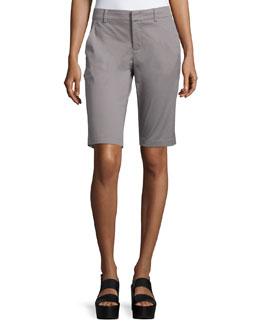 Side-Buckle Bermuda Shorts, Fossil