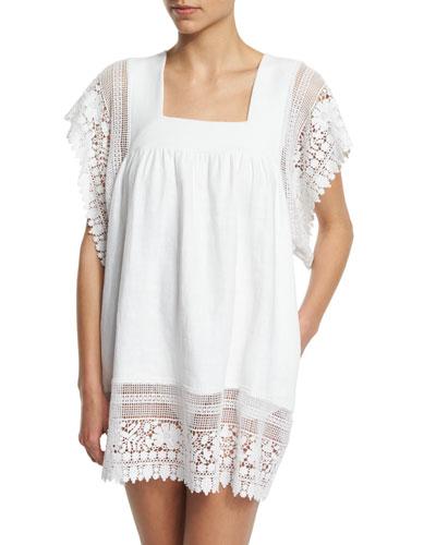Destiny Crocheted-Lace Coverup Dress