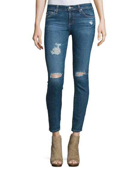 The Legging Distressed Ankle Jeans, 11 Years Swap