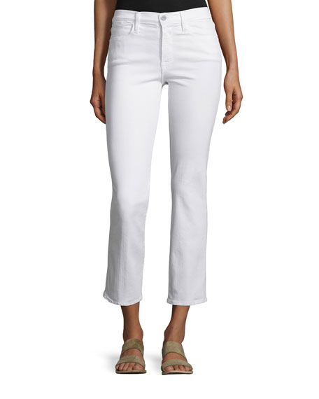 Le High Straight-Leg Cropped Jeans, Blanc in White