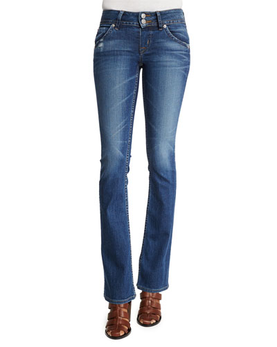 Sigboot Low-Rise Boot-Cut Jeans, Point Break