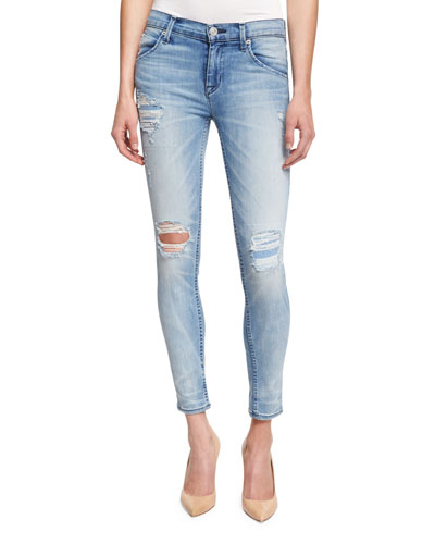Lilly Distressed Ankle Jeans, Rialto
