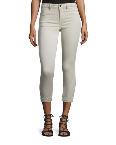 Anja Skinny Rolled-Cuff Ankle Jeans, Ashwood