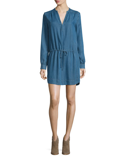 Quianna Drawstring-Waist Shirtdress, Angeles