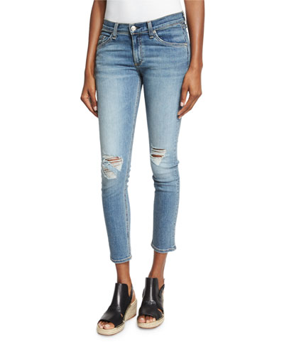 Tomboy Distressed Skinny Cropped Jeans, Murray