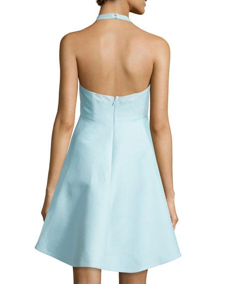 Sleeveless V-Neck A-line High-Low Cocktail Dress