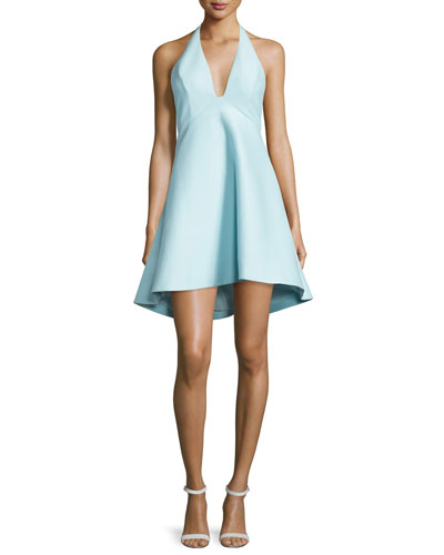 Sleeveless V-Neck A-line High-Low Cocktail Dress