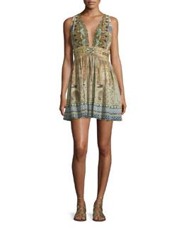 Sleeveless Embellished Mini Dress, Granada Dream
