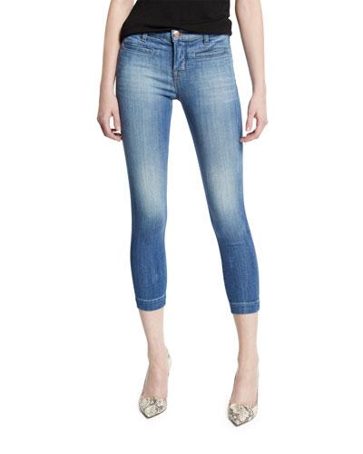 Skeyla Mid-Rise Super-Skinny Capri Jeans, Defined