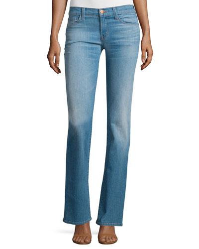 Brya Mid-Rise Boot-Cut Jeans, Intrigue