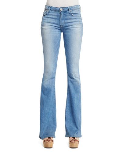 Mia Mid-Rise Flare-Leg Jeans, Drift