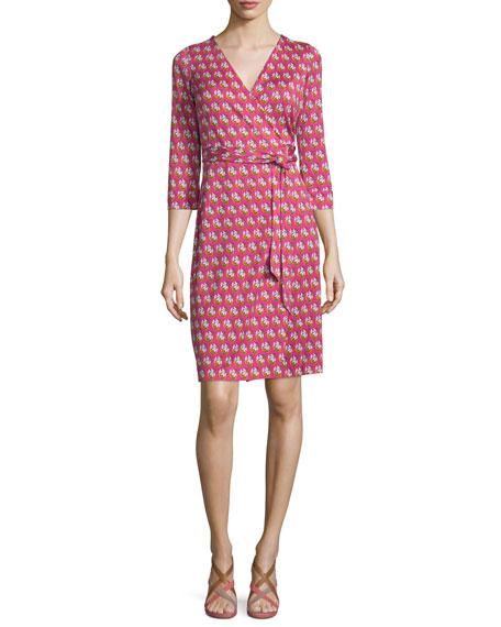 3c722e22246c2 Diane von Furstenberg New Julian Two Zen Flora Wrap Dress, Pink