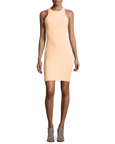 Kenna Sleeveless Sheath Dress, Tangerine