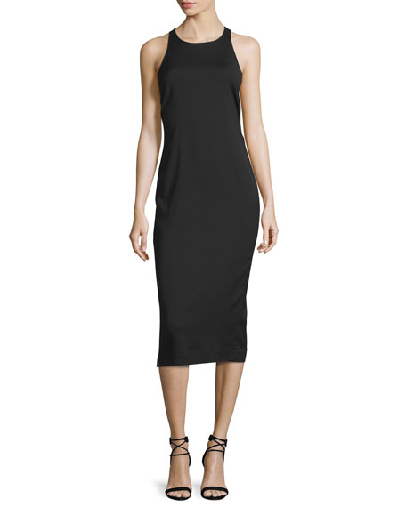 Veronica Beard Reef Racerback Midi Dress, Black