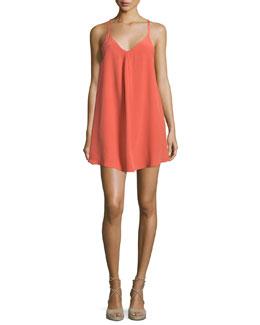 Mitsou Sleeveless Silk Slip Dress