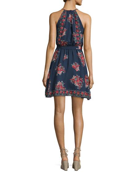 Valletta Floral-Print Silk Georgette Dress