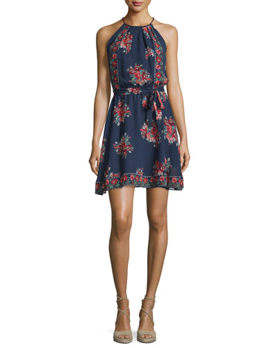 Valletta Floral-Print Silk Georgette Dress