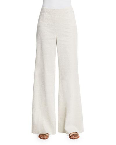 Simmone Crunch Wash Wide-Leg Pants