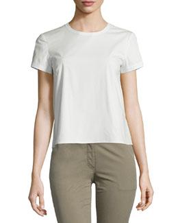 Henrikka Light Poplin Short-Sleeve Top