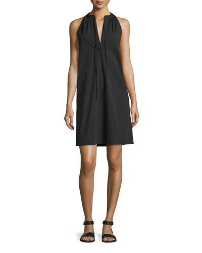 Nallane Light Poplin Sleeveless Dress