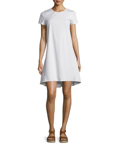 Sandrin Light Poplin Short-Sleeve Dress