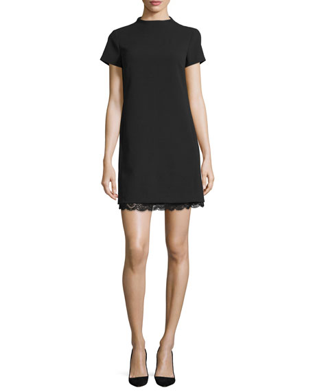 Theory Jasneaht Admiral Crepe Lace-Trim Dress