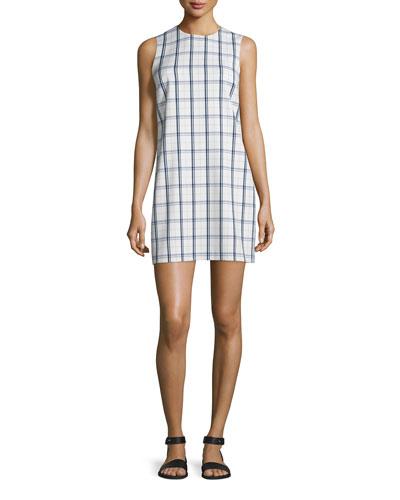 Adraya Lustrate Plaid Shift Dress