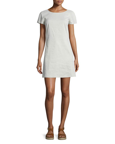 Jamelya Crunch Wash Short-Sleeve Dress