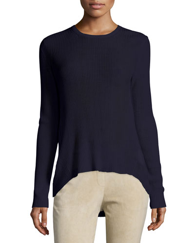 Ellyna Merino Wool Sweater, Deep Navy