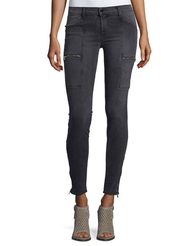 Kassidy Skinny Ankle Jeans, Gray