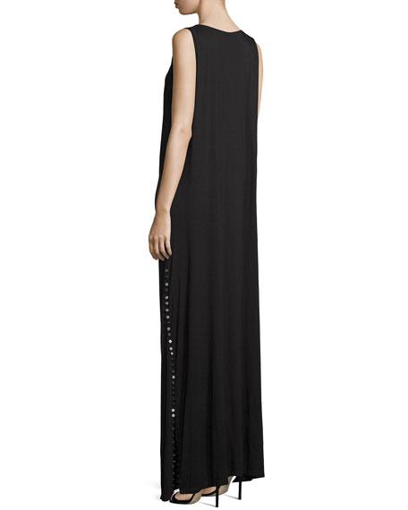 The Claire Cowl-Neck Maxi Dress, Black