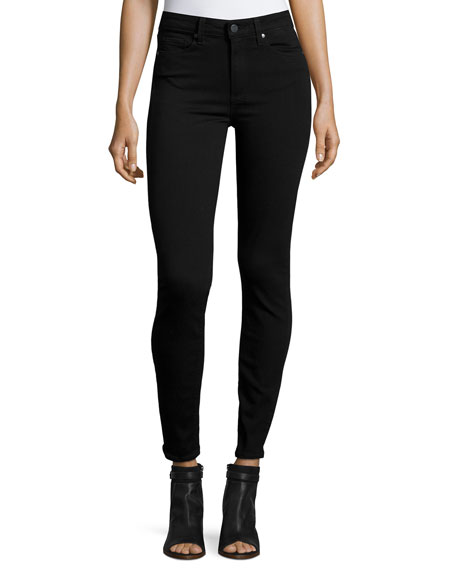 PAIGE Hoxton Ultra-Skinny Ankle Jeans, Black Shadow