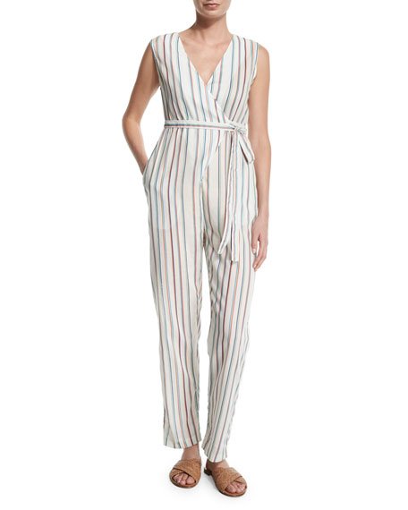 Alexa Striped V-Neck Jumpsuit