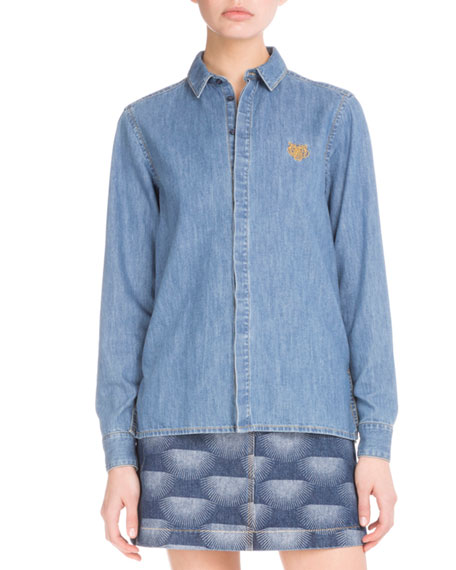 1d69941f Kenzo Denim Long-Sleeve Shirt & Nagai Star A-Line Skirt